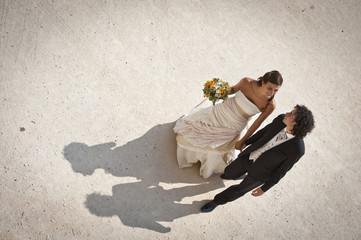 sposi dall'alto