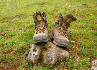 Walking Boots in the Country