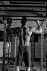 Toes to bar man pull-ups 2 bars workout