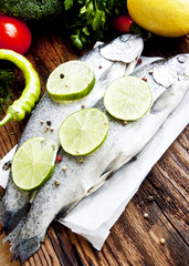 Fresh Trout Seasoned with Lime