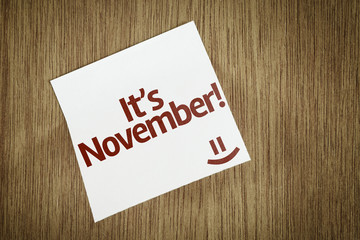 It's November on Paper Note