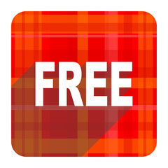 free red flat icon isolated