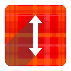 arrow red flat icon isolated