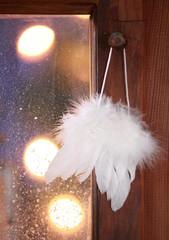 Delicate white angel wings