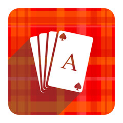 card red flat icon isolated
