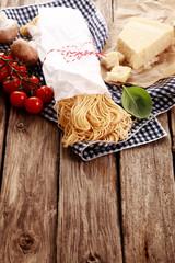 Ingredients for healthy Italian pasta