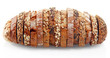 canvas print picture - Assorted German Bread Slices Formed as One