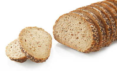 Tasty Sliced Bread with Sesame Seeds