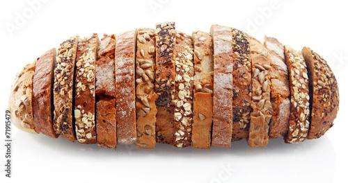 Fotobehang Brood Assorted German Bread Slices Formed as One
