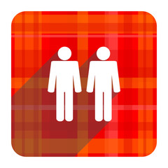 couple red flat icon isolated
