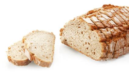 Tasty Sliced German Roll Bread on White Background