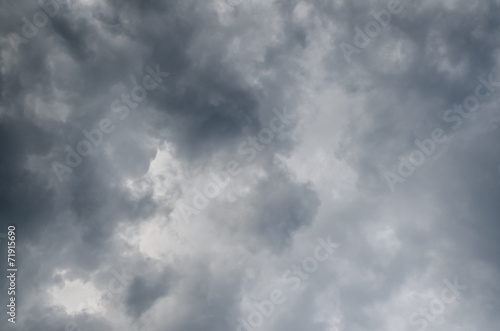 Rainy (or rain) cloud, gray color background - 71915690