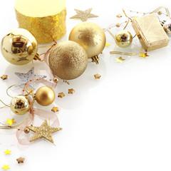 Stylish gold Christmas corner border