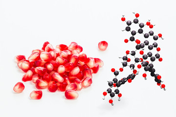 Pomegranate and  punicalagin composite