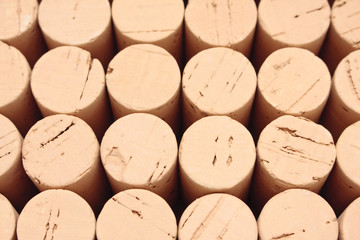 Rows of corks
