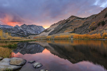 Sunset at Bishop, Autumn, Fall Color