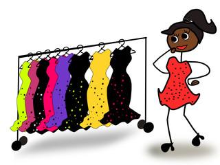 Kleiderkauf, Qual der Wahl
