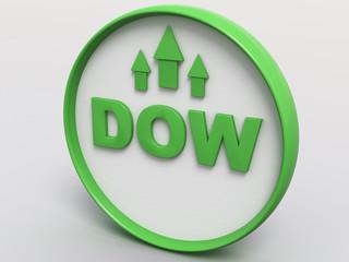 Dow Jones 3D Button Concept I