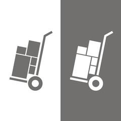 Icono carretillo transporte BN