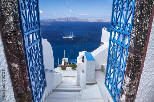 Zdjęcia na płótnie, fototapety na wymiar, obrazy na ścianę : Île de Santorin Grèce Cyclades