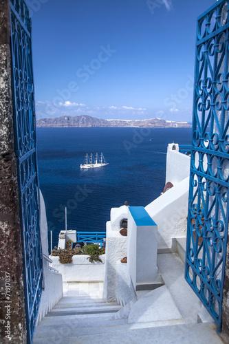 Île de Santorin Grèce Cyclades - 71917037