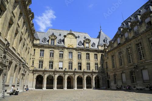 canvas print picture Universität Sorbonne in Paris