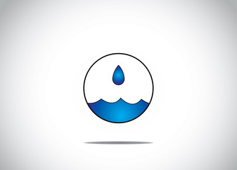 blue water droplet preservation conservation concept artwork