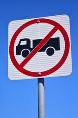 No heavy vehicles traffic sign