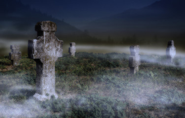 Old scary graveyard