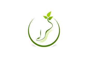 green podiatrist logo design Vector