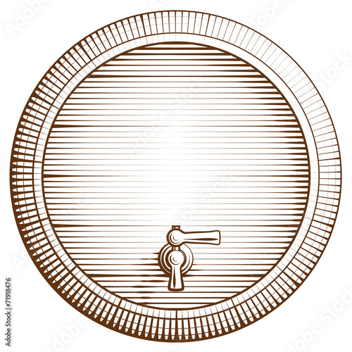 Vector wooden barrel - 71918476