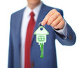 canvas print picture - Hand with a house key.