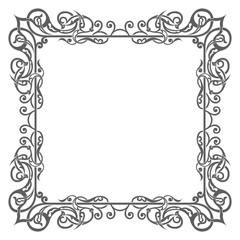 Blank garnished frame, Ancient style border