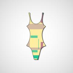 female swimsuit isolated