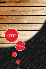 Post-season reduction, big sale, background, shopping sprees