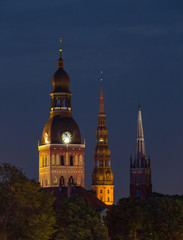 Old churches in Riga, Latvia