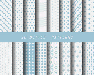 16 dot seamless patterns