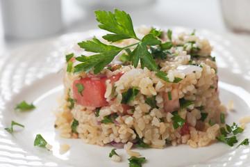 Tabbouleh with bulgur salad
