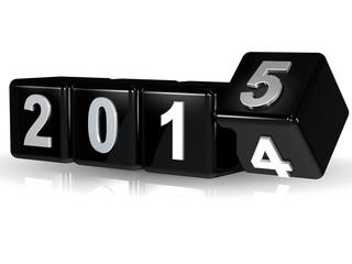 2014 > 2015 Würfel Silvester Banner schwarz