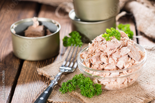 Deurstickers Vis Canned Tuna