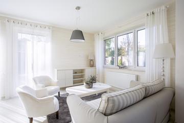Interior of comfy living room