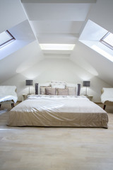 Enormous bed in the attic