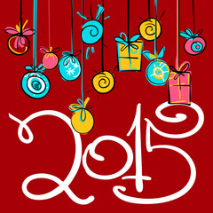 New year 2015  card design_1