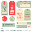 set of ready-to-use christmas gift tags - 71921850
