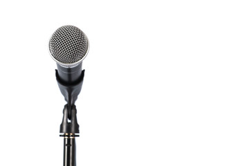 Microphone on stand