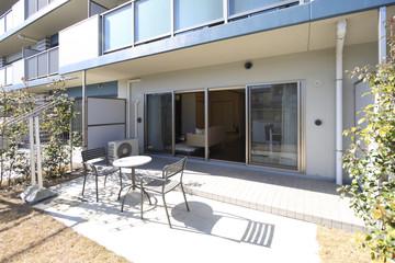 マンションのテラスと専用庭 イメージ