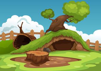 Illustration of beautiful landscape background vector