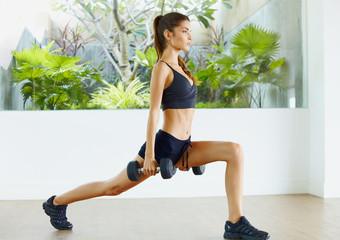 Female indoor fitness c