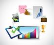business tablet concept illustration