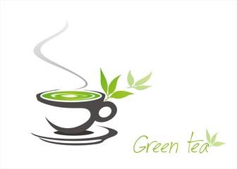 green tea, tea leaves , business logo design, India